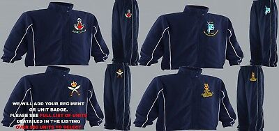 Units 1- 21 Embroidered Regimental Tracksuits To Clear 3Xl 4Xl & 5Xl To 58 Chest