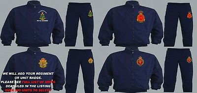 Units D To I Embroidered Regimental Tracksuits To Clear Large Xl And 2Xl Only
