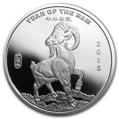 (2015)  1/2 oz Year of The Goat Coins .999 Silver
