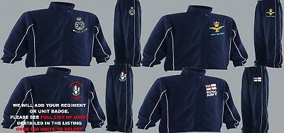 """Units I To N Embroidered Regimental Tracksuits To Clear 3Xl 4Xl 5Xl To 58"""" Chest"""
