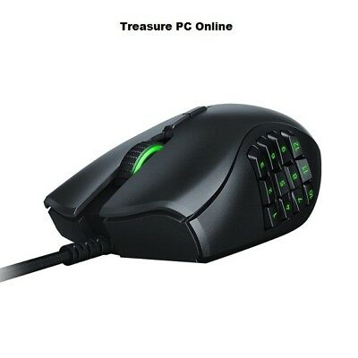 Razer Naga Trinity Multicolor MMO 16000 DPI Mechanical Switches Gaming Mouse