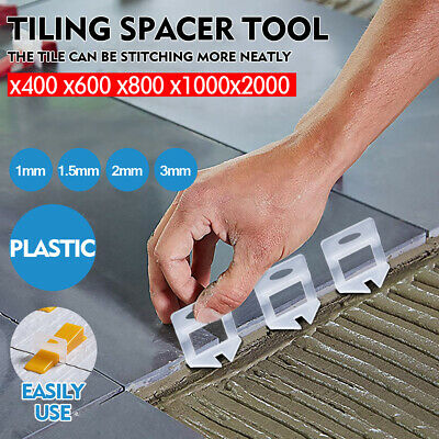 400-2000x Tile Leveling System Clips Levelling Spacer Tiling Tool Floor Wall 1.5
