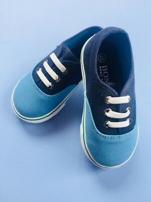 Designer HUGO BOSS Boys Canvas Trainers Blue/Navy WERE £65 NOW £35 SALE SALE