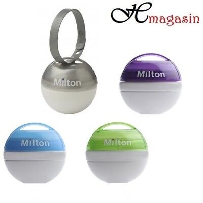 Milton Mini Portable Soother Pacifier Dummy Steriliser 10 Tabs Free On the Go