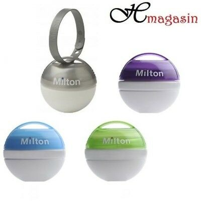 Milton Mini Portable Soother Pacifier Dummy Steriliser Silver Blue Green Purple