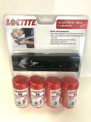 Loctite 55 Thread Sealing Cord 4 x 160mtr + Multi Tool potable water to BS6920
