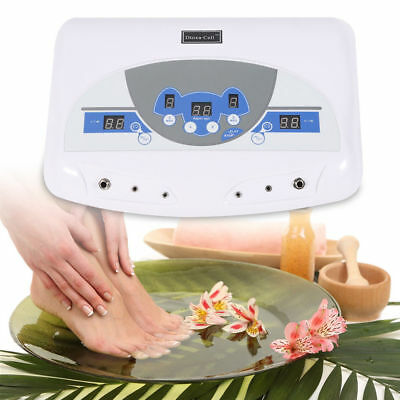 Dual-User Detox Foot·Fuß Bad Spa Maschine Ionic Cleanse Ion Salon Professionell