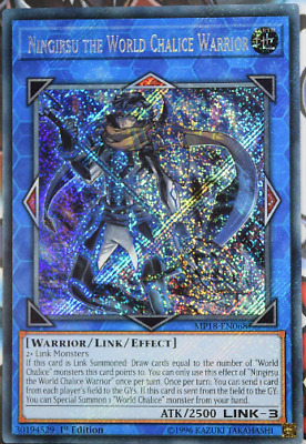 3 X Yugioh Card Mp18-En068 Ningirsu The World Chalice Warrior Secret Rare New