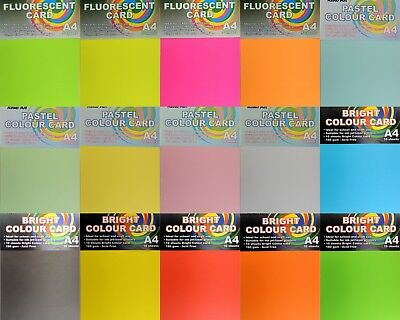 A4 Coloured Card 160 gsm Colour Cardboard Craft Paper DIY Scrapbooking