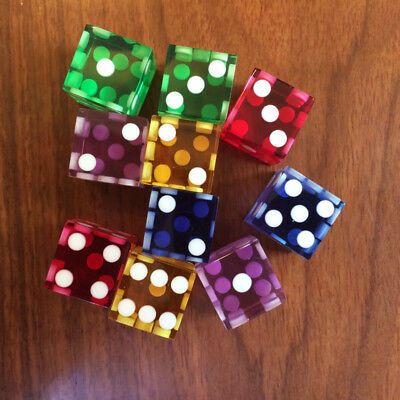1PC 16mm Right-angle Transparent Casino Craps Dice Grade Razor Edge Stick