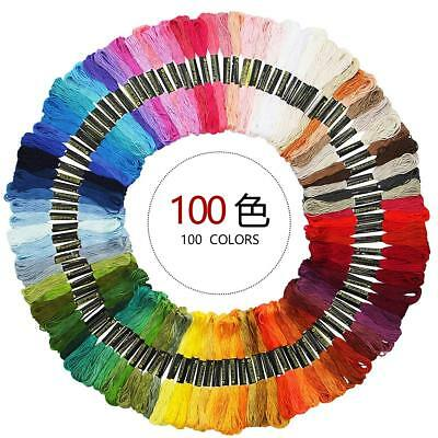 50/100 Anchor Cross Stitch Cotton Embroidery Thread Floss/ Skeins ASSORTED COLOR