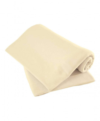 Mamas & Papas Cot Fitted Sheets, Cream, (63 x 127 cm) Pack of 2, Nursery Bedding
