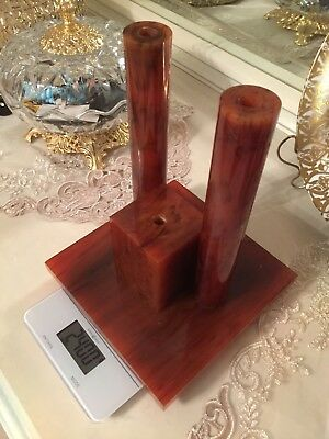 Antique vintage Cherry bakelite catalin faturan art deco huge dice bloc 2,400gr