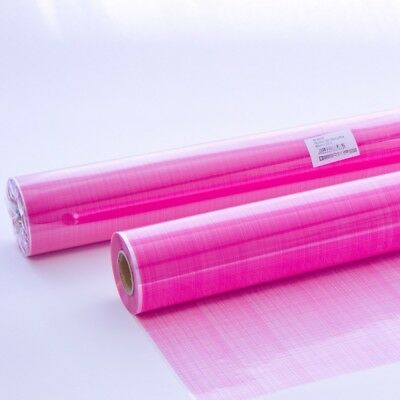 CERISE PINK HESSIAN PRINTED Cellophane Film Clear Flower Gift Hamper Wrap Roll