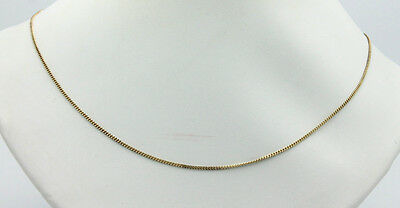 """Sterling Silver .925 Gold Overlay Rolo Curb Chain Link 18"""" Necklace 2g #9625"""