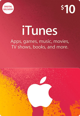 Apple iTunes Gift Card $10 for US Account (Digital Delivery)