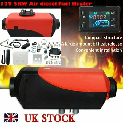 12V 5000W Air diesel Fuel Heater LCD Monitor 5KW PLANAR for Trucks Bus Boats Car