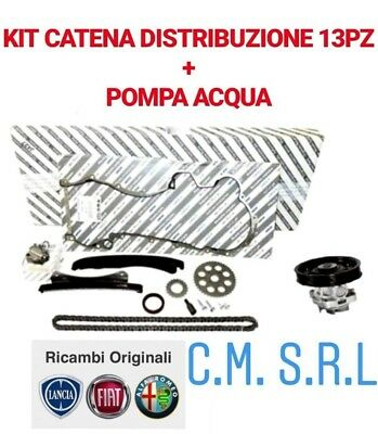 Kit Catena Distribuzione+Pompa Acqua Originale Fiat Idea 1.3 Multijet 66Kw 90Cv