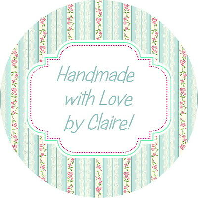 24 Gloss Personalised Shabby Chic Vintage Roses Glossy Craft Labels (3)