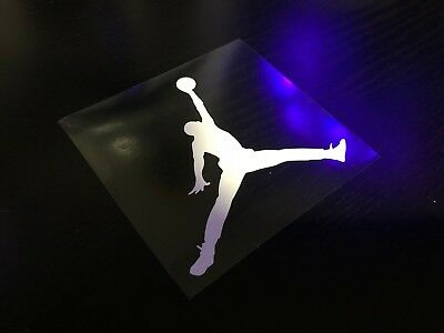 Michael Jordan Air Iron On/heat Press Diy Clothing Transfer 8.5 X 7.9 Cm White