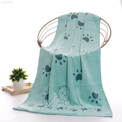 9DEC Smile Bear Baby Bath Towel Infant Shower Product Cute Feeding Cloth