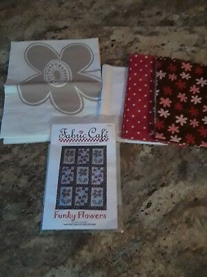 "Funky Flowers Quilt Kit 43""x58 1/2"""