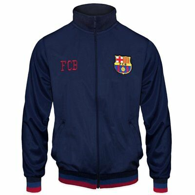 FC BARCELONA OFFICIAL Kids Retro Track Jacket - Navy 4 5yrs -  34.99 ... dfd3e75ee