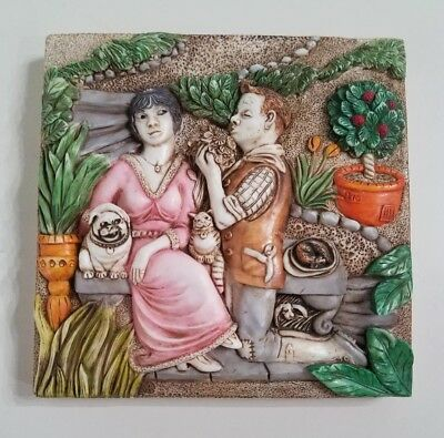 Harmony Kingdom Picturesque  Byron's Secret Garden Love's Labours Magnetic Tile
