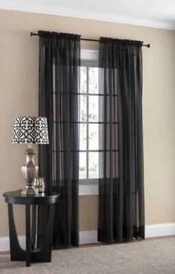 New Window Treatment Collection Sheer Panels Valance Curtain Rods by Mainstays
