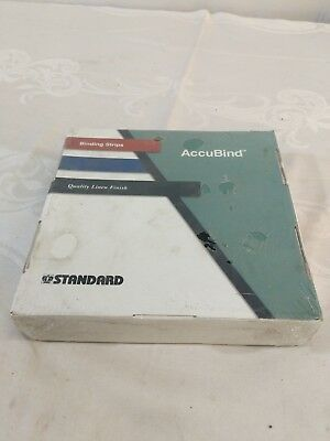 "Standard AccuBind Size B 1"" Black Continuous Linen Finish Binding Strips E3"