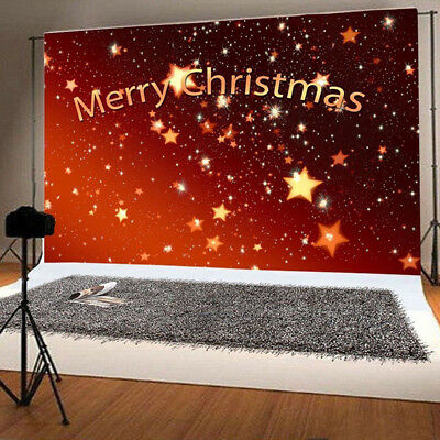 5x3ft Christmas Photography Backdrop Studio Prop Photo Stand Background Red 2018