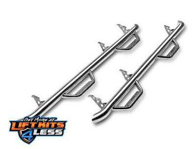 N-Fab F0996CC-SS Stainless Steel Wheel to Wheel Nerf Step Bar 09-14 Ford F-150