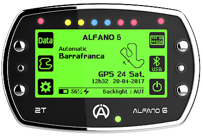 New Alfano6 A1060 Data Logger Timing Gauge For Go Karts A6