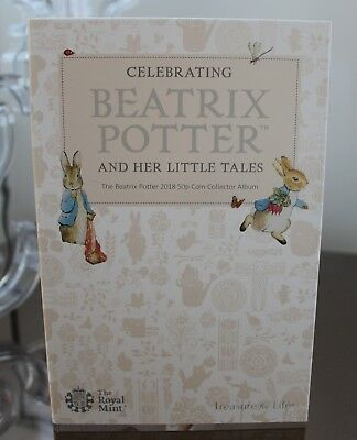 2018 Royal Mint Beatrix Potter 50p Coin Collector Album Folder
