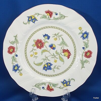 "Villeroy and Boch Persia Salad Plate Floral Red Trim 8"" Scalloped"