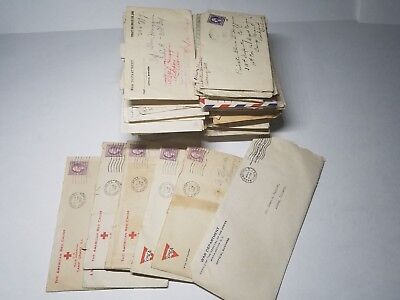Lot Of War Department Correspondence Letter Mail Collection Army Red Cross World