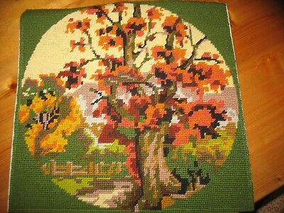 Autumn Scene in Countryside Wool Tapestry by Twilleys of Stamford 31 x 31 cm