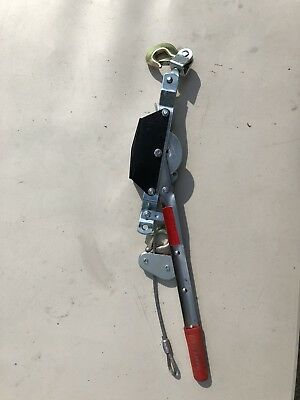 NEW Cal-Hawk Tools 2 Ton 4000lb Power Puller Come-A-Long with 2 Hooks SHIPS FAST