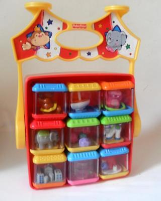Fisher Price Circus Peek a Boo Blocks Set of 9 with Carry case