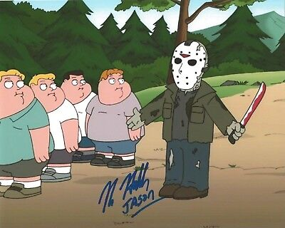 Kane Hodder Signed 8x10 Family Guy Photo Jason Voorhees Friday The 13th PROOF