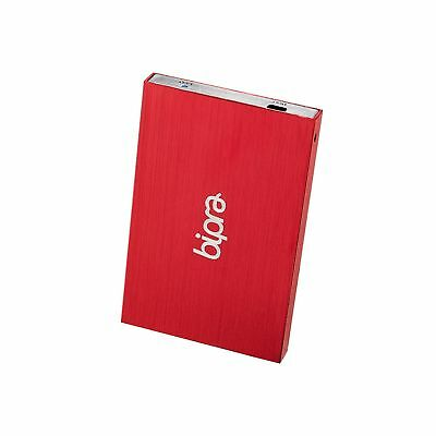 Bipra 120Gb 120 Gb 2.5 Inch External Hard Drive Portable Usb 2.0 - Red - Fat3...