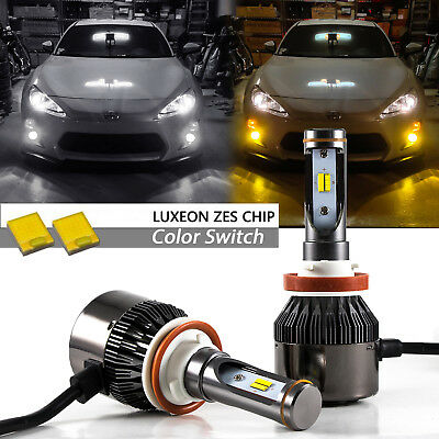 H11 H8 H16 36000LM White Yellow LED Fog Driving Light Kit For FR-S FT86 BRZ