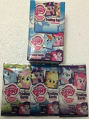 My Little Pony Trading Cards And Tattoos Full Box 25 Packets Normal $50 RRP