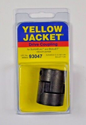 """YELLOW JACKET, Ritchie Engineering, 93047 Coupler, Vacuum Pump, For 1/2"""" Shafts"""