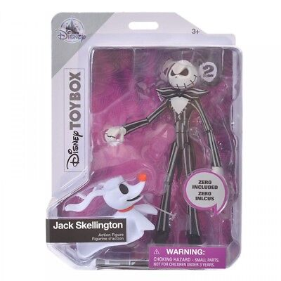 New Disney Store Japan Figure Toy Box Jack Skellington & Zero From Japan F/S