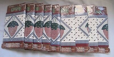 Lot of 9 General Store Fruit Salad Strawberry Prepasted Wallpaper Border New USA
