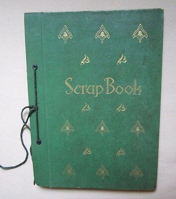 Vintage Embossed Birds Stamps Scrapbook 50s Mid Century Photo Album Tie Binding