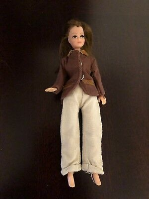 Vintage 1970's Palitoy Pippa Doll Emma In Brown Jacket And Khaki Pants