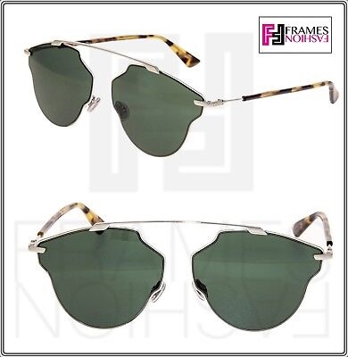 e25c983f6a21 CHRISTIAN DIOR SO REAL POP Pale Gold Green Havana Aviator Sunglasses SOREAL  POP