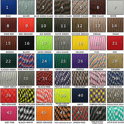 Hot 100FT 550 Paracord Rope 7 Strand 4mm Mil Spec Parachute Cord CAMPING HiKING